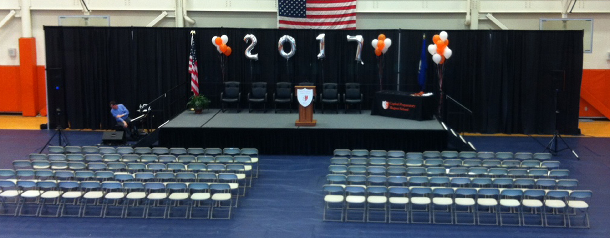 Graduation Stage and Chairs